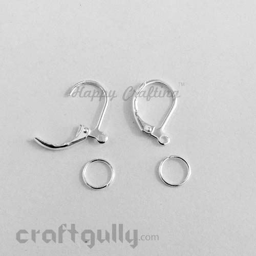 Earring - Clasp - Lever Back - Silver Finish - Pack of 4