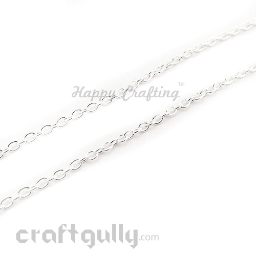 Chains - Oval 4mm - Silver Finish - 36 Inches