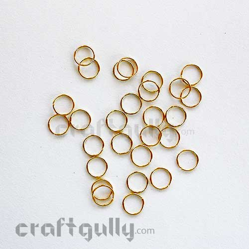 Jump Rings 7mm - Golden Finish - 10 gms