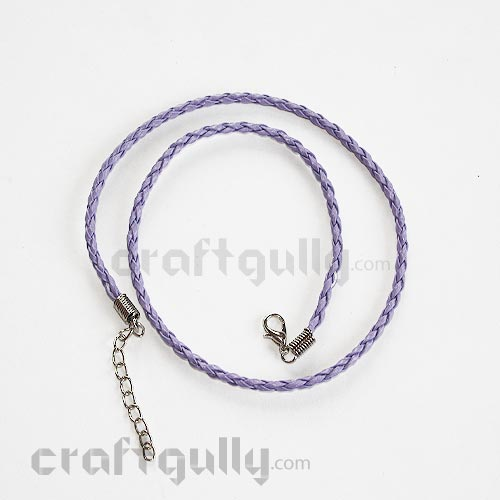 Necklace Cords - Faux Leather - Braided - Lilac