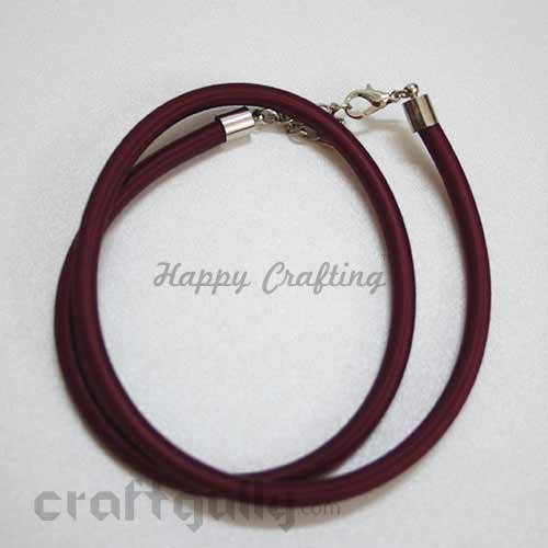 Necklace Cords - Silk Thread - Wine - 18 inches