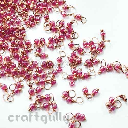 Loreals 2mm - Glass - Dark Pink with Lustre - 5gms