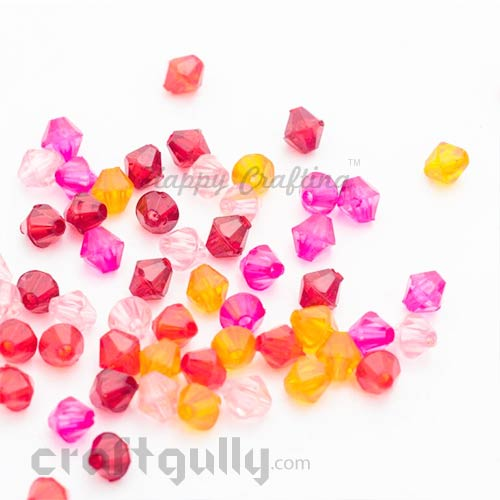 Spacer Beads 4mm - Acrylic Assorted #1 - Pack of 100