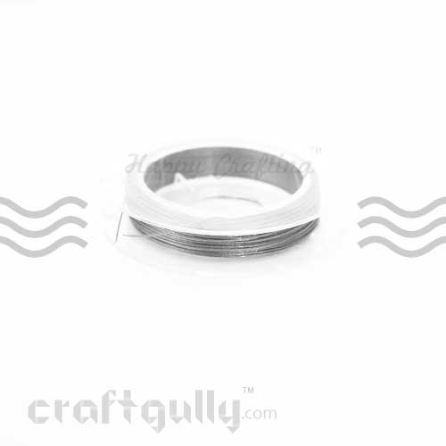 Craft Wire - Tiger Tail 0.38mm - Old Silver - 9m