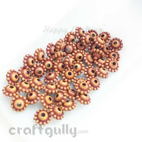 Acrylic Beads 5mm Spacers - Rondelle - Terracotta Finish #1 - Pack of 50