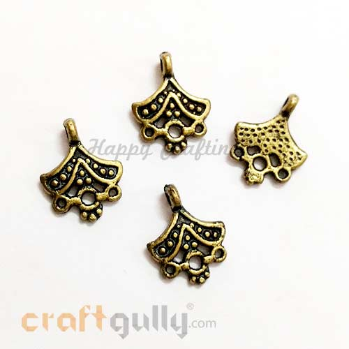 Charms 18mm - Acrylic - Design #1 - Bronze Finish - Pack of 10