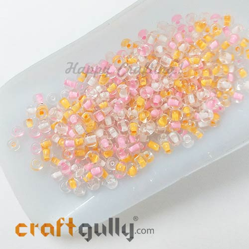 Seed Beads 3mm Glass - Round - Assorted #6 - 25gms