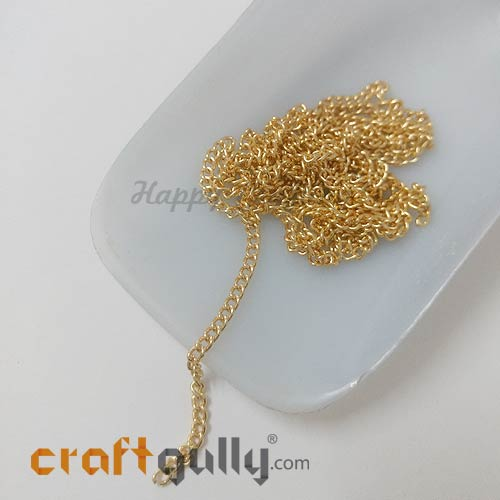 Chains - Round Flat 2.5mm - Golden Finish - 32 Inches