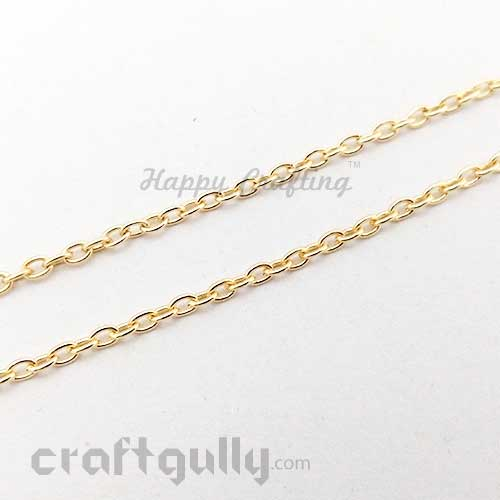 Chains - Oval 3mm - Golden Finish - 34 Inches