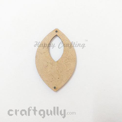 Earring / Pendant Base - MDF - 51mm - Marquise - Pack of 1