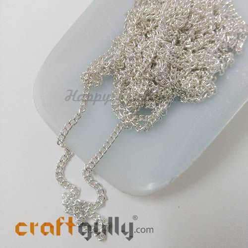 Chains - Round Flat 2.5mm - Silver Finish - 34 Inches