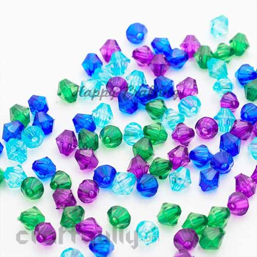 Spacer Beads 4mm - Acrylic Assorted #2 - Pack of 100