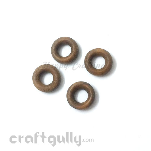 Earring / Pendant Base Wooden - 23mm Ring #6 - 4 Rings