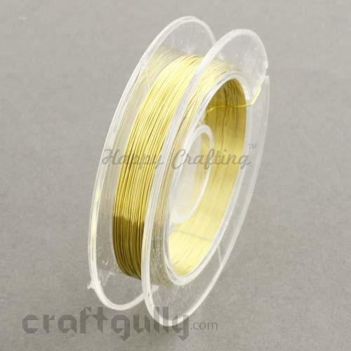 Craft Wire - Copper 0.3mm Golden - 9 meters