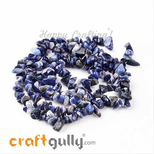 Stone Beads - Blue - Assorted Shapes - 32inches