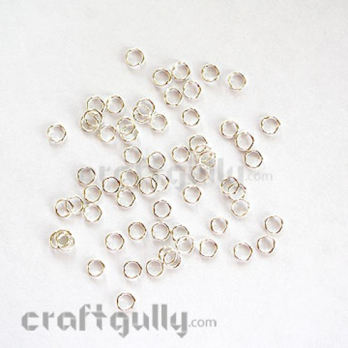 Jump Rings 9mm Thick - Silver Finish - 10 gms