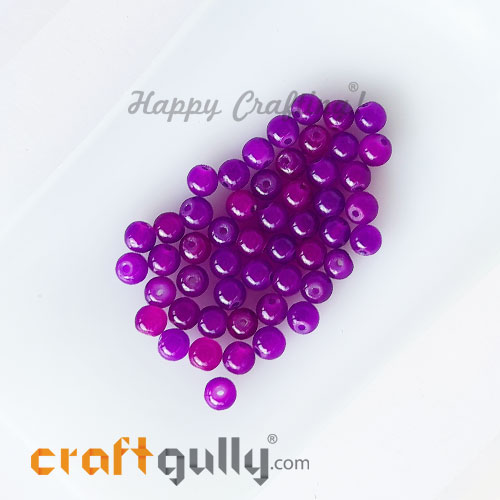 Glass Beads 4mm Round - Trans. Dual Purple - 50 Beads