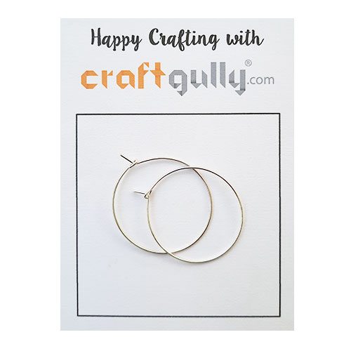 Earring Hoops 30mm  - Silver Finish - 5 Pairs