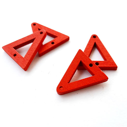 Connectors #80 MDF - 21mm Triangle - Red - Pack of 4