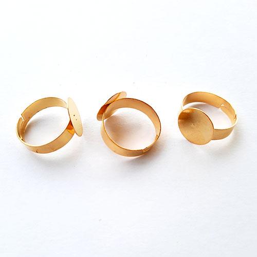Ring Blanks 12mm - Round #5 - Golden - Pack of 10