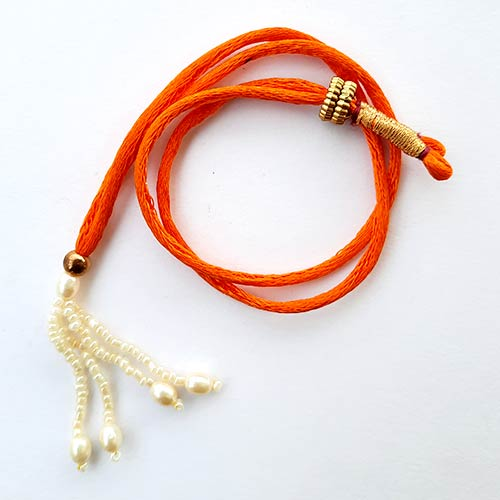 Necklace Cords - Back Rope #6 - Orange - Pack of 1