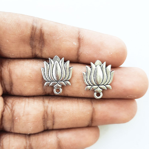 Earring Studs Design #21 - Antique Silver - 3 Pairs