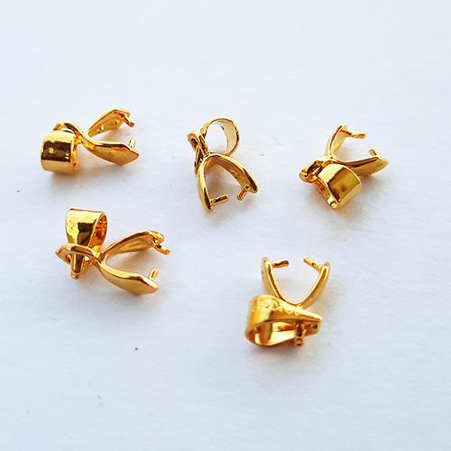 Bails 14mm Design #10 - Triangular Golden Finish - 5 Bails