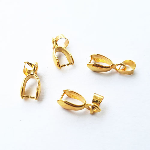 Bails 16mm Design #14 - Triangular Golden Finish - 5 Bails