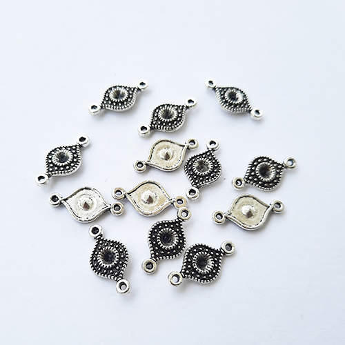 Connectors #69 - 16mm - 1/1 Rings Antique Silver - Pack of 20