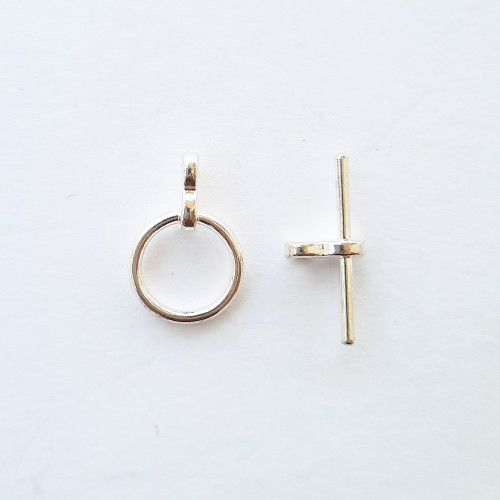 Toggle Clasps #2 - Silver - 2 Sets
