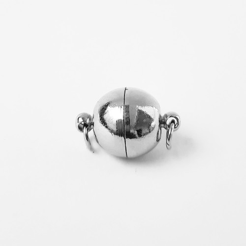 Magnetic Brass Clasps #2 - Silver - 1 Set