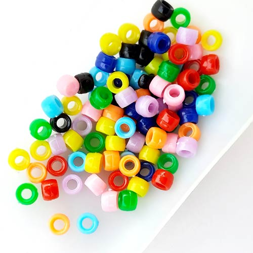 Acrylic Beads 6mm Round - Assorted - 10gms