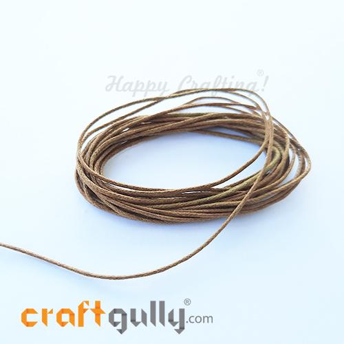 Waxed Cords 1mm - Brown - 3 meters