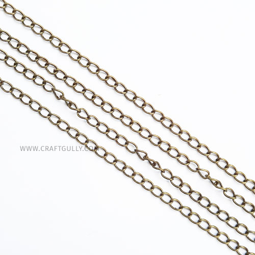 Chains - Oval 5mm - Bronze Finish - 36inches