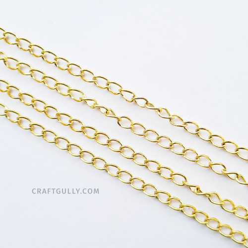 Chains - Oval 6mm - Light Gold Finish - 36inches