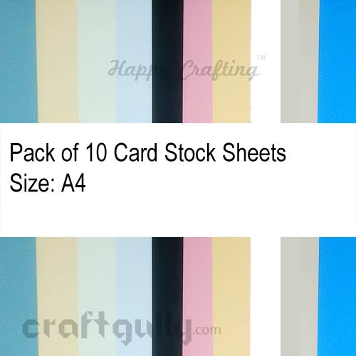 CardStock A4 - Random Assorted 220gsm - Pack of 10
