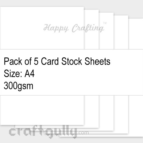 CardStock A4 - Snow White 300gsm - Pack of 5