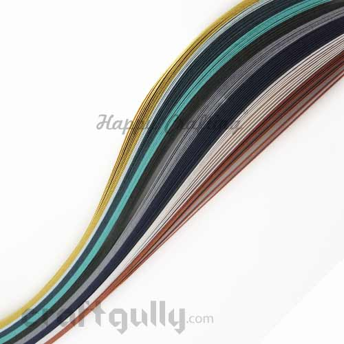 Quilling Paper Strips 5mm - Metallic Assorted - 17Inch - 80 Strips