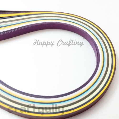 Quilling Paper Strips of 10mm - Assorted - 17Inch - 100 Strips