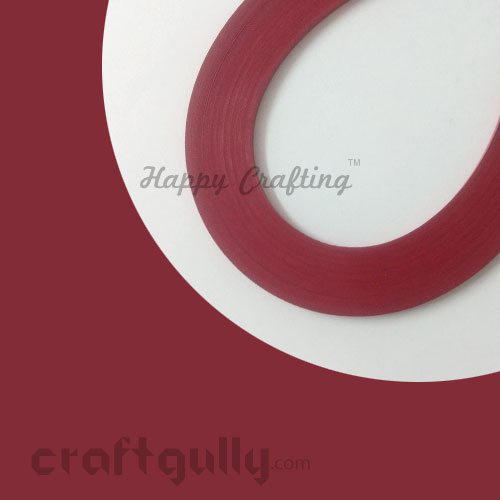 Quilling Strips 5mm - Red #2 - 16Inch - 100 Strips