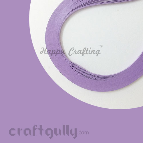 Quilling Paper Strips 5mm - Lilac Pastel #2 - 17Inch - 100 Strips