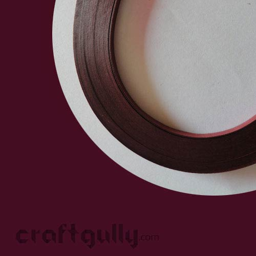 Quilling Paper Strips 3mm - Maroon - 17Inch - 100 Strips