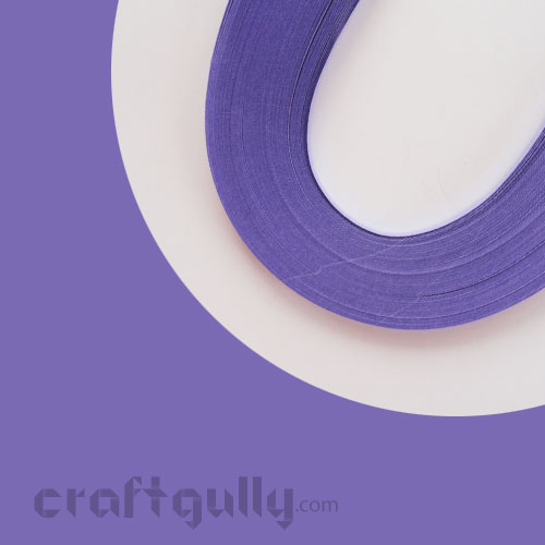 Quilling Paper Strips 5mm - Violet - 17Inch - 100 Strips