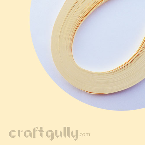 Quilling Paper Strips 3mm - Cream - 17Inch - 100 Strips
