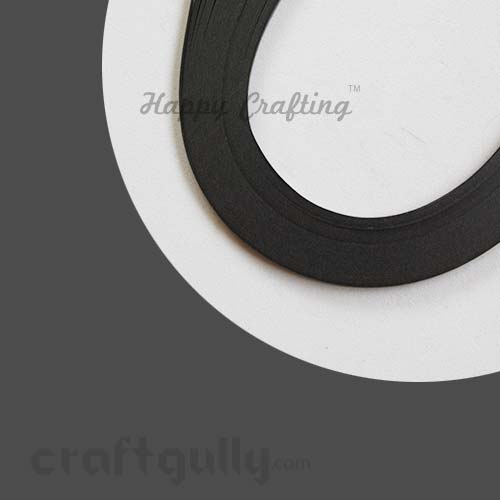 Quilling Paper Strips 3mm - Slate - 17Inch - 100 Strips