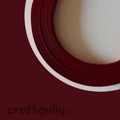 Quilling Paper Strips 3mm - Dark Red - 17Inch - 100 Strips