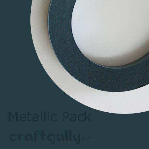 Quilling Paper Strips 3mm - Metallic Dark Teal - 17Inch - 100 Strips
