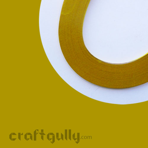 Quilling Paper Strips 3mm - Mustard - 17Inch - 100 Strips