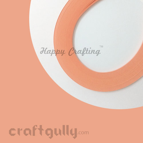 Quilling Paper Strips 3mm - Salmon Pink #2 - 17Inch - 100 Strips
