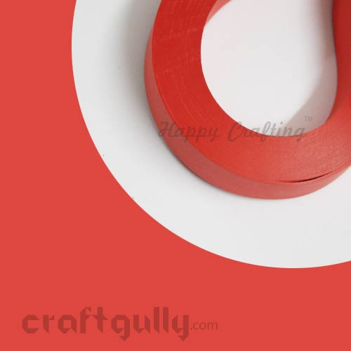Quilling Paper Strips 3mm - Candy Red - 17Inch - 100 Strips